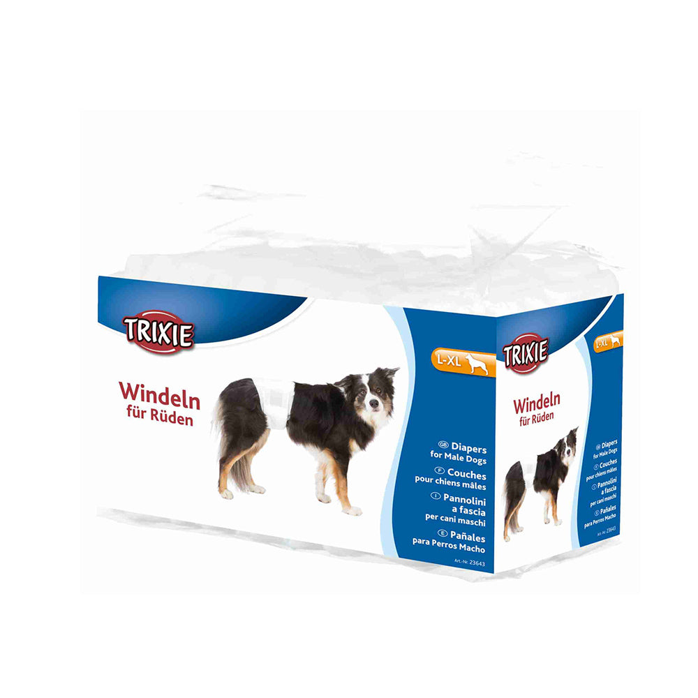 Diapers for Male Dogs, Disposable (12 pieces)
