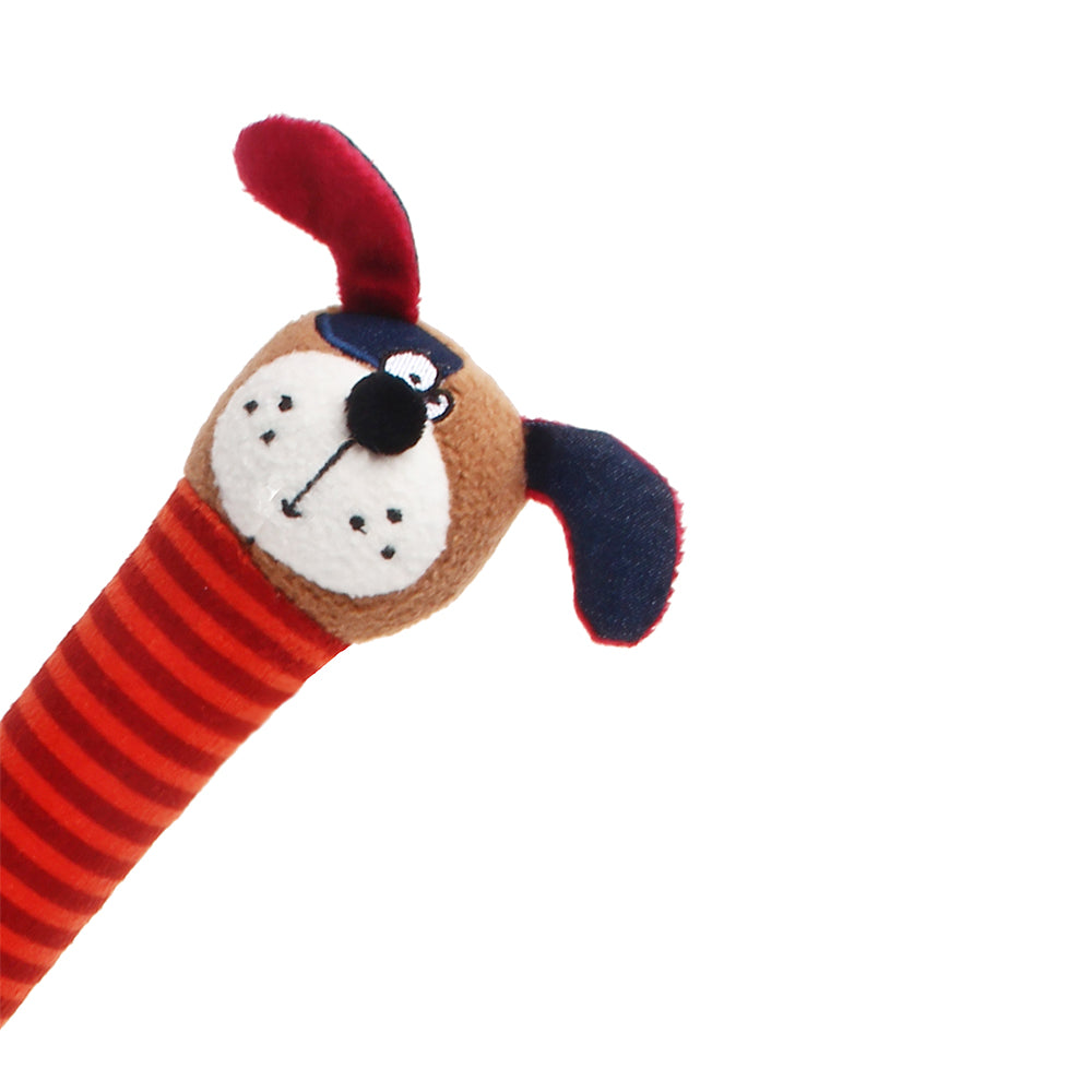 Crunchy Neck 'Plush Friendz' Dog-S with Bone & Squeaker