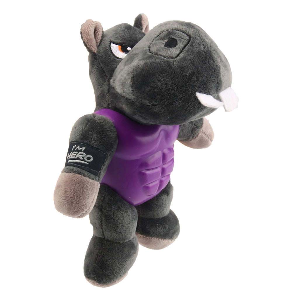 I'm Hero TPR Armor Hippo TPR / Plush with Squeaker- Medium