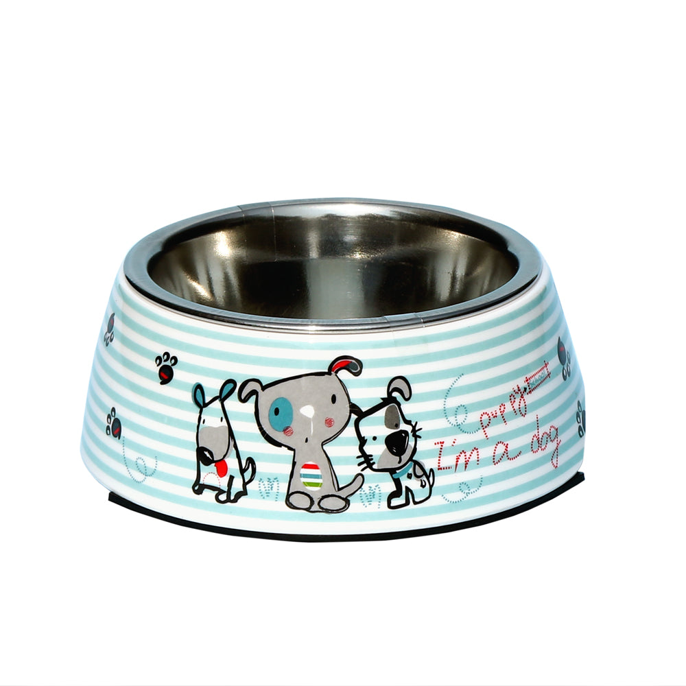 Melamine Belly Bowl- Anti-Skid-Puppy School