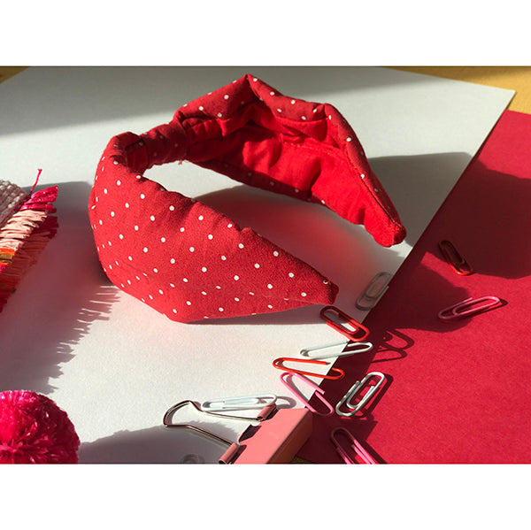 Red Polka Dot Hair Band