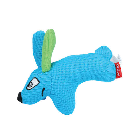 Puffer Zoo Rabbit Knitted Fabric Blue Small