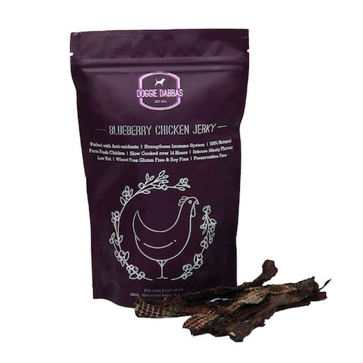 Blueberry Chicken Jerky