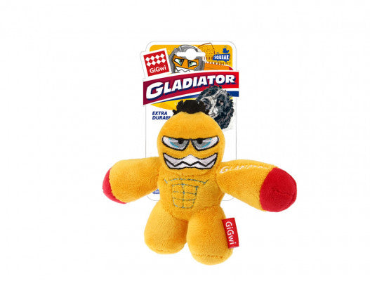 Yellow 'Gladiator' Squeaker Inside'- Small