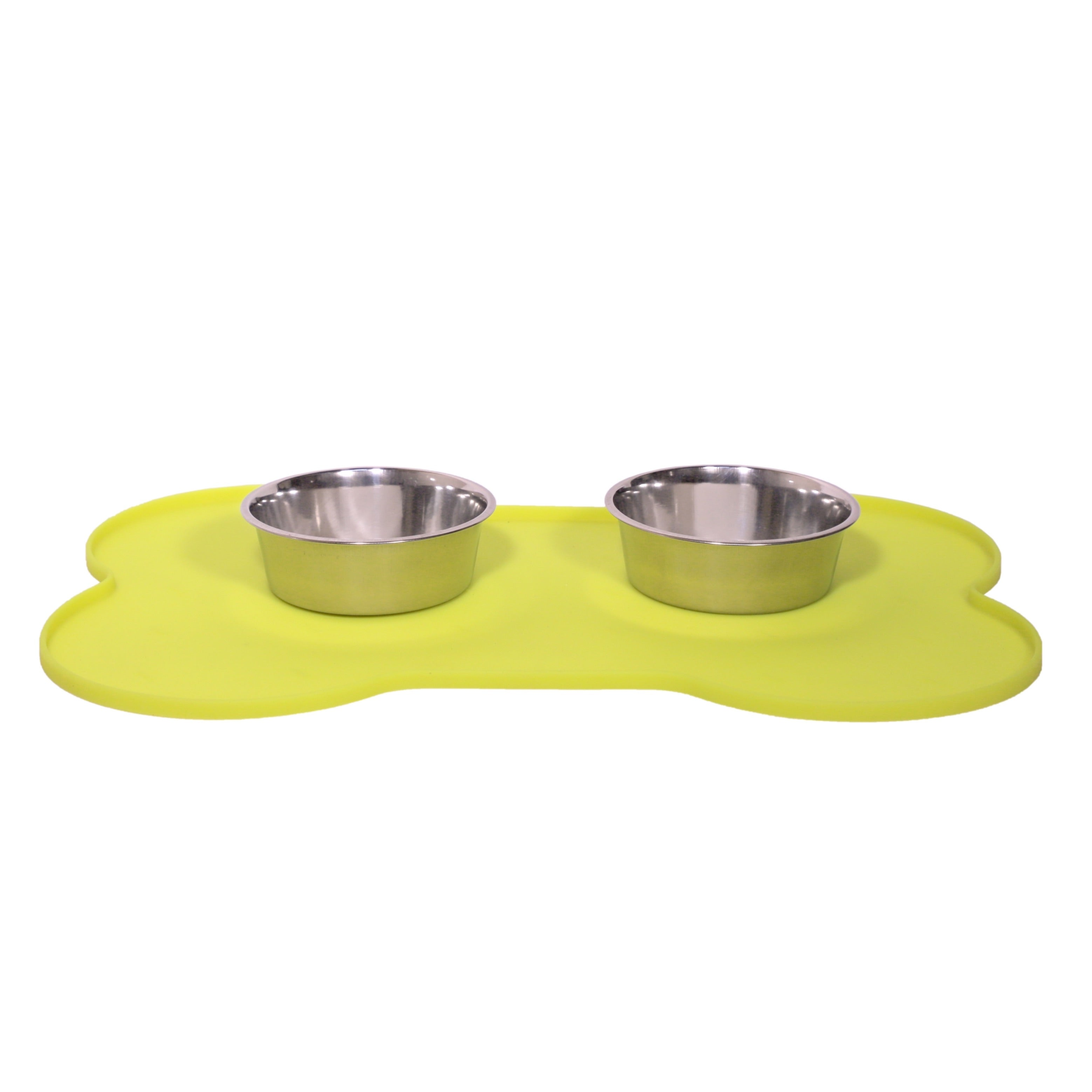 Bone Shape Silicon Rubber Mat- Lime Green