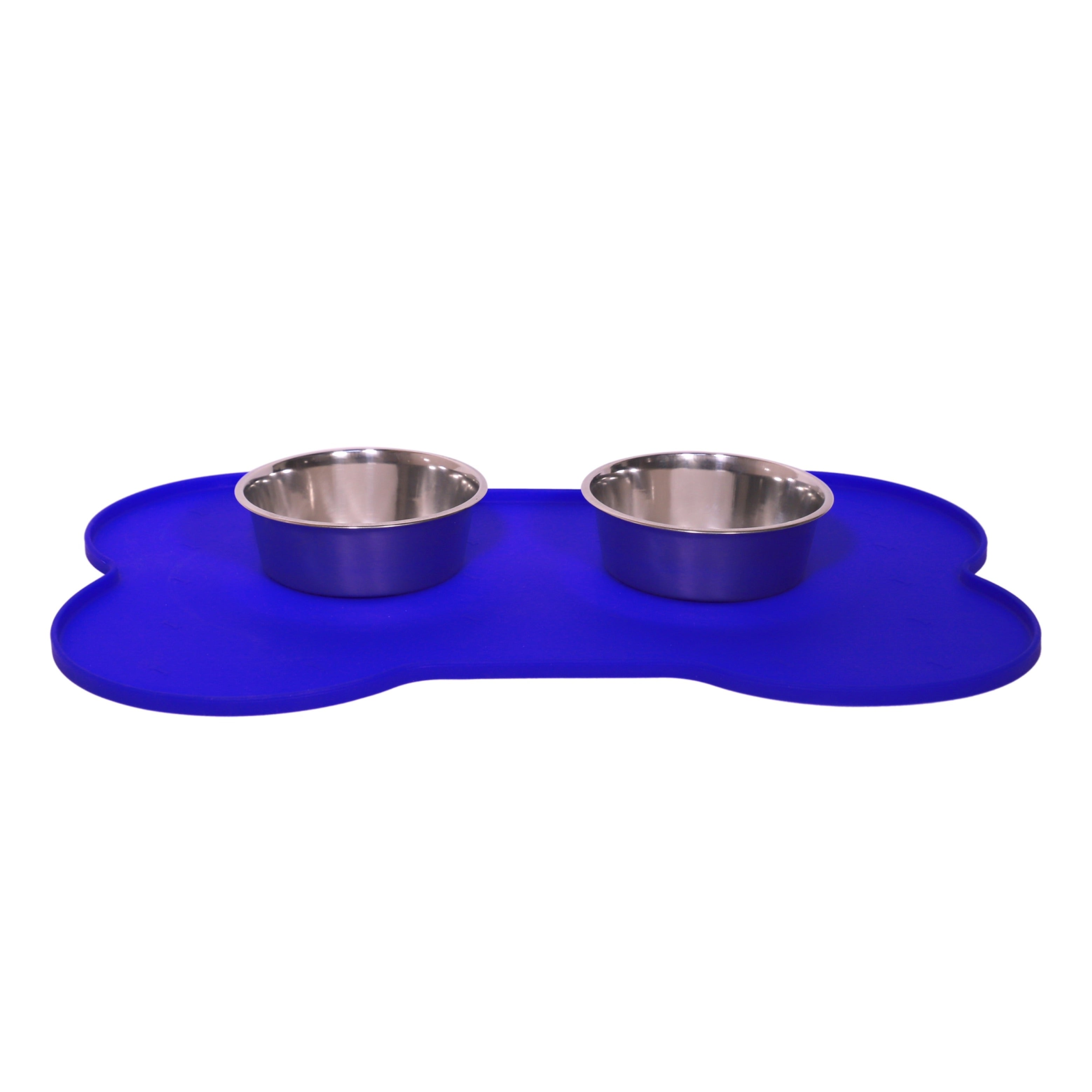 Bone Shape Silicon Rubber Mat- Electric Blue