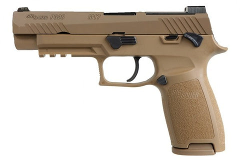 "P320 Semi Auto Pistol M17, 9MM, 4.7"" BBL, Coyote, Striker Fire, Siglite NS, Manual Saftey 3-10 rd, NS Plate"