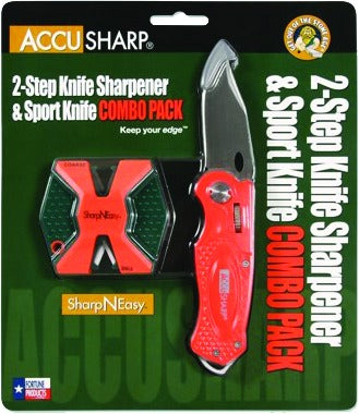 SharpNEasy Orange Two-step sharpener/knife - orange