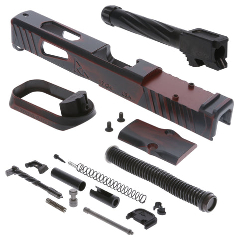 Faction Series Kit - Incl. Slide & Magwell, Barrel, Guide Rod, Slide Completion Kit - Glock G17 Gen4 Rmr - Ready Red