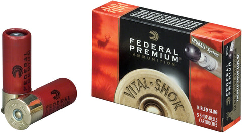 Vital-Shok TruBall Rifled Slugs 20 GA, 3 in, 3/4 oz, 1700 fps, 5 Rnd per Box