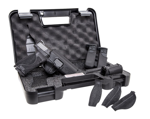 "M&P9 M2.0 Semi-Auto Pistol Carry & Range Kit, 9MM, 4.25"" BBL, 10-Rnd 3 mags, White Dot, Tac Ops Holster, Lula Loader"