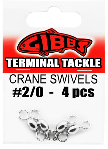 Crane Swivels #2/0, 4 pc