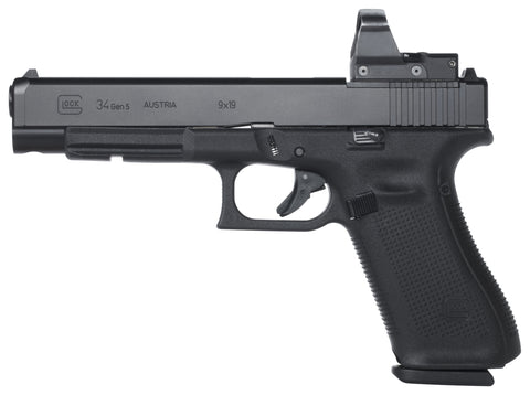 "G34 MOS Gen5 Semi Auto Pistol 9MM 5.3"" Long Slide 10rd, 3 Mags, Optic ready (not Included)"