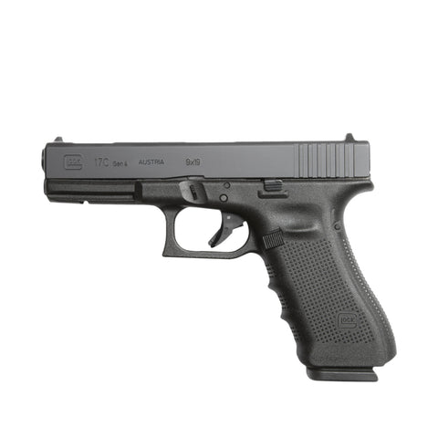 "G17C Gen4 Semi-Auto Pistol, 9MM, 4.49"" Bbl,10+1 Rnd, 3 Mags, Fixed Sights, Barrel Compensated Safe Action"