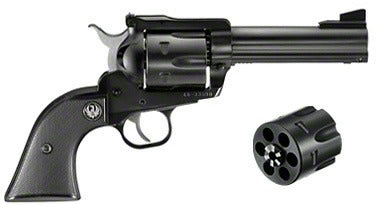 Blackhawk Convertible Revolver 45 LC, 4.62 in, Checkered Hard Rubber Grp, 6 Rnd, Std Blued Frame, Std Trgr