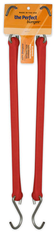 18 in standard duty bungee, red, 2 pack