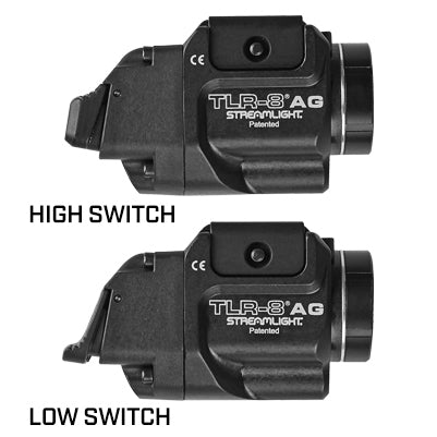 TLR-8A Flex Low Profile, Rail Mounted Tactical Light w/ Red Laser, Rear Switch Options