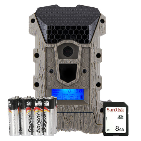 Game Camera, Wraith 16MP Lightsout Combo, Includes 8 Batteries, 8GB SD card