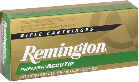 Premier AccuTip-V Rifle Ammo 17 REM FB, AccuTip-V, 20 Grains, 4000 fps, 20, Boxed