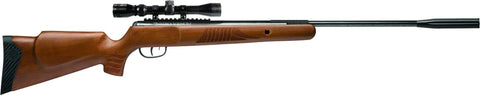 Nitro Venom Break Barrel Pump Pellet Rifle, .22 Cal, Hardwood Stock, 3-9X32mm Center Point Scope, 950 fps