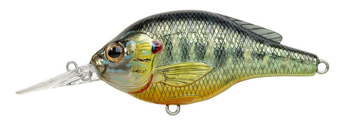 "Sunfish Pumpkinseed Medium Dive Flat-Side Crankbait, 5'-6', 2 1/4"", #6 Hooks, 1/4 oz, Natural/Matte, Floating"