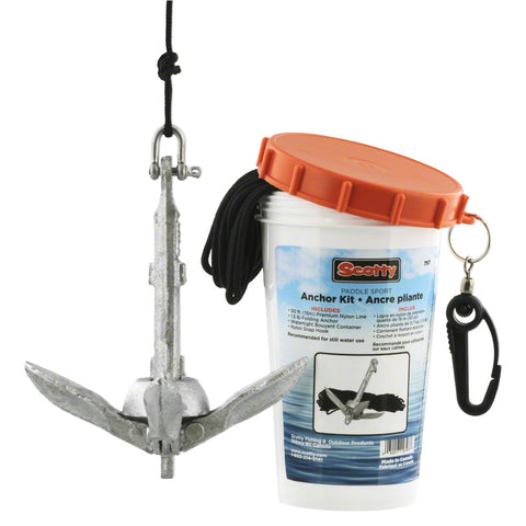 Anchor Pack w/ 1.5 lb anchor, line, in watertight jar