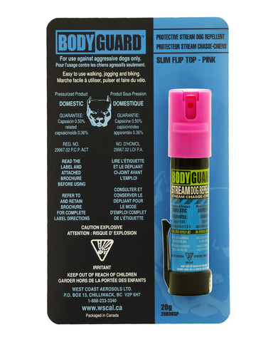 Bodyguard Stream Dog Repellent 22g, 0.50% Cap