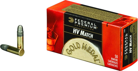 Gold Medal Target Rimfire Ammo 22 LR, Solid, 40 Grains, 1080 fps, 50 Rounds, Boxed