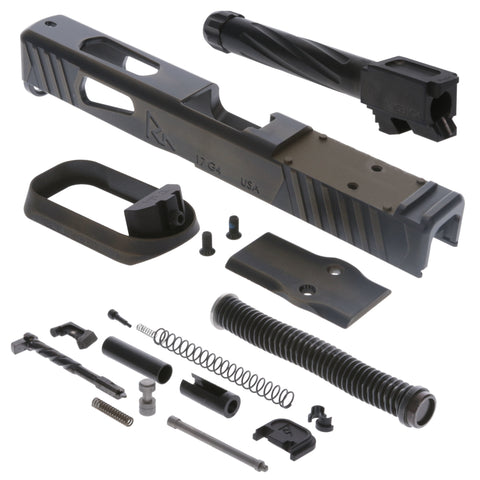 Faction Series Kit - Incl. Slide & Magwell, Barrel, Guide Rod, Slide Completion Kit - Glock G17 Gen4 Doc - Battle Bronze