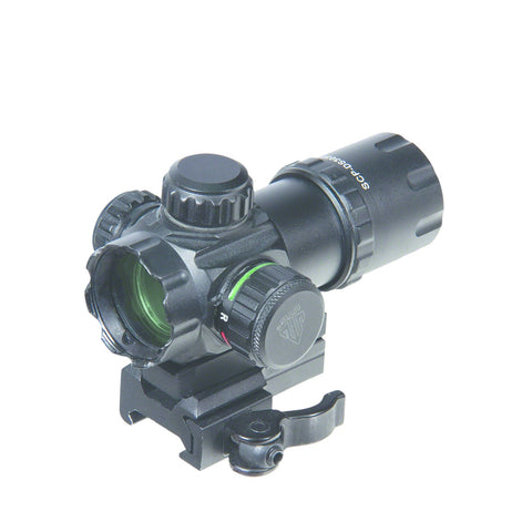 ITA Red Dot Sight, 3 V CR1620 Batt, 1x, 70 ft FOV at 100yd, Standard Picatinny/Weaver Rail Mount