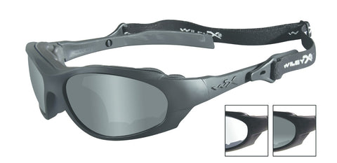 XL-1 ADVANCED Shooting Glasses-  2 Lenses Smoke Grey/Clear Matte Black Frame