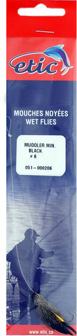 Muddler (Snelled), Black Size H06