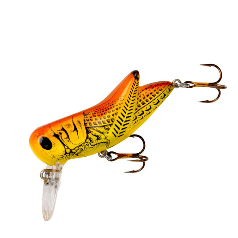 "Rebel Crickhopper Topwater/Crankbait Lure, 1 1/2"", 3/32 oz, Brown Cricket, Floating"