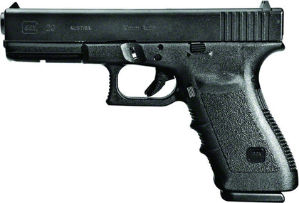 G20 Short Frame Semi Auto Pistol 10MM, 4.6 in, Poly Grp, 10+1 Rnd, 2 Mags, Fixed, Full Sz Blk Frame