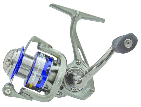Laser Lite Speed Spin Spin Reel, Ambi, 6BB + 1RB, 5.2:1 Ratio, Anod. Alum Spool, Mono 4/150
