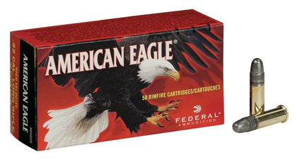 American Eagle Rimfire Rifle Ammo 22 LR, Copper Plated HP, 38 Grains, 1260 fps, 40 Rounds, Boxed