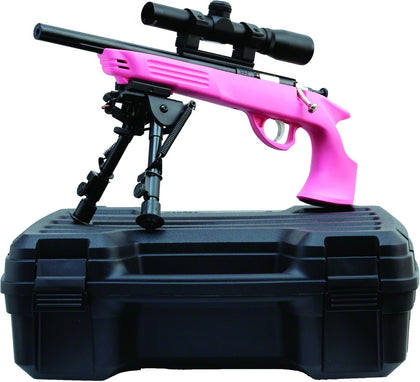 Crickett Bolt Action Youth Pistol 22 MAG, 10.5 in, 1 Rnd, 2x20 Pistol Scope, Pink Frame, Aluminum Trigger