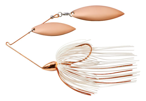 Copper Eagle Double Willow Spinnerbait White Copper