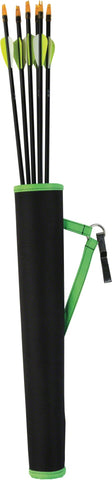 Compact Tube Hip Quiver - Black/Green