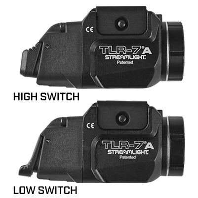 TLR-7A Flex Low Profile, Rail Mounted Tactical Light w/ Rear Switch Options