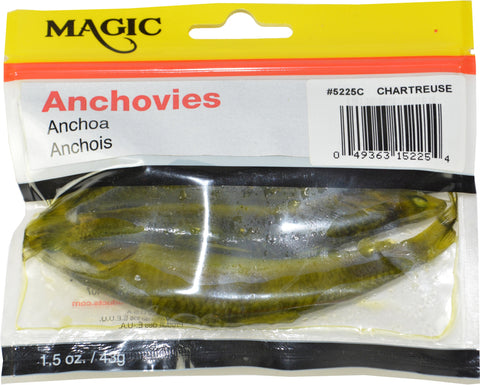 "Perserved Anchovies, 4"" to  5"", 12 oz Bag, Natural"