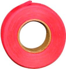 "Flagging Tape 1""X 150"", Flourescent Orange"