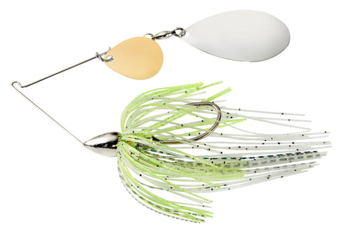 War Eagle Nickel Frame Tandem Indiana Spinnerbait White Silver