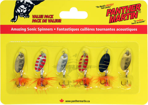 Deluxe with Fly - Treble Hook #4 (1/8 oz), 6 Pack