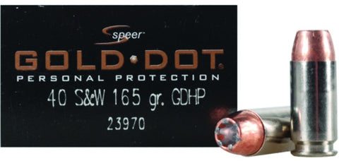 Gold Dot Personal Protection Handgun Ammo 40 S&W, GDHP, 165 Gr, 1150 fps, 20 Rnd, Boxed