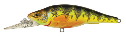 "Yellow Perch Shallow Dive Jerkbait, 1'-2', 2 7/8"", #6 Hooks, 3/8 oz, Natural/Matte, Suspend"