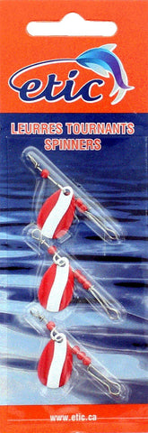 Indiana Single Blade Spinner, Red/White Size 1