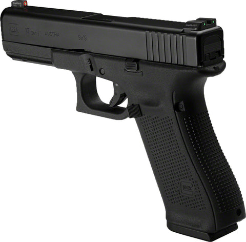 "G17 Gen5 Semi-Auto Pistol, 9MM, 4.49"" Bbl, Poly Grip, 10+1 Rnd, 3 Mags, Fixed Sights"
