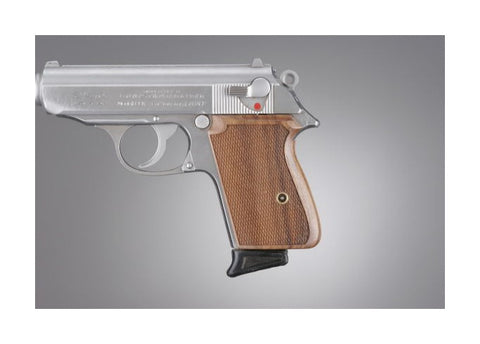 Walther PPK Pau Ferro, Checkered Wood Pistol Grip