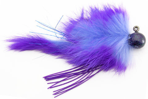 Twitching Jig 1/2oz Lt/Drk Purple Collar&Tail w/Blk,Ppl Head